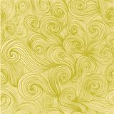 Seamless hand-drawn waves texture. Royalty Free Stock Images