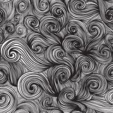 Seamless hand-drawn waves texture. Royalty Free Stock Photos