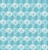 Seamless hand-drawn waves texture. Royalty Free Stock Image