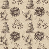Seamless wedding pattern Stock Photos