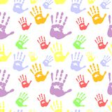 Seamless hand pattern Royalty Free Stock Photos