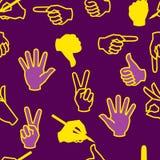 Seamless hand pattern Royalty Free Stock Image