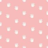Seamless hand pattern Stock Photography