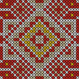 Seamless handmade cross-stitch ethnic pattern Stock Photography