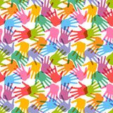 Seamless handprint pattern. Vector illustration Royalty Free Stock Image
