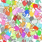 Seamless handprints Royalty Free Stock Photo