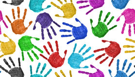 Seamless hands background stock images