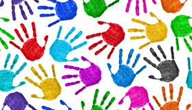 Seamless hands background Stock Photo