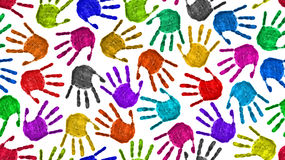 Seamless hands background Royalty Free Stock Photos
