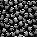 Seamless hands palms black and white background. Black and white background with hands palms.rnSeamless Tile Royalty Free Stock Photography