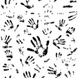 Seamless hands pattern Royalty Free Stock Image