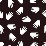 Seamless hands pattern. Black and white seamless hands pattern Royalty Free Stock Photography