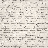 Seamless handwritten text pattern Stock Images