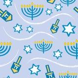 Seamless Hanukkah Pattern vector illustration