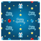 Seamless Happy Birthday Pattern Royalty Free Stock Image