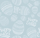 Seamless happy easter pattern Stock Photos
