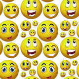 Seamless happy face Royalty Free Stock Photo