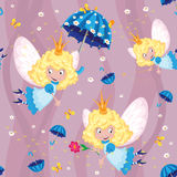 Seamless happy fairy. Illustration of a seamless happy fairy Stock Images
