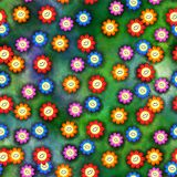 Seamless Happy Flowers Royalty Free Stock Photography
