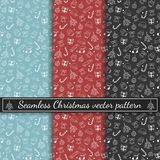 Seamless happy new year vector pattern. Christmas pattern in multiple colors. Winter background. Seamless happy new year vector pattern. Winter background vector illustration