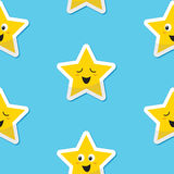 Seamless happy stars background for kids Royalty Free Stock Image