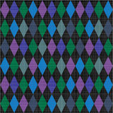 Seamless harlequin pattern fabric background Royalty Free Stock Photos