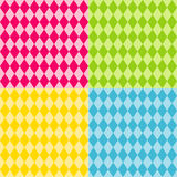 Seamless Harlequin Patterns, Brights Royalty Free Stock Photos