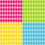 Seamless Harlequin Patterns, Brights Royalty Free Stock Photos