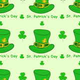 Seamless hats St. Patrick's Day Stock Images