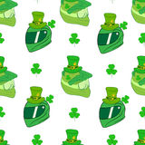 Seamless hats St. Patrick's Royalty Free Stock Images