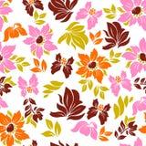 Seamless hawaiian flower pattern Royalty Free Stock Image