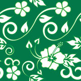 Seamless Hawaiian - Green Royalty Free Stock Photography