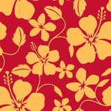 Seamless Hawaiian Hula Pattern vector illustration