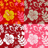 Seamless Hawaiian Hula Pattern Stock Photos