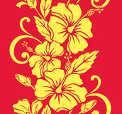 Seamless Hawaiian Royale Border/Pattern Royalty Free Stock Photos