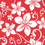 Seamless Hawaiian Xmas Pattern Stock Photos