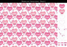 Seamless heart backgrond in rose pink color theme with bonus icons - 3. A seamless heart background in rose pink color theme. It comes a set with extra bonus Stock Images