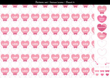 Seamless heart backgrond in rose pink color theme with bonus icons - 4. A seamless heart background in rose pink color theme. It comes a set with extra bonus Stock Images
