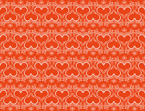 Seamless heart background Royalty Free Stock Photo