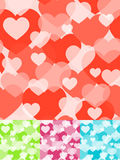 Seamless heart background. Seamless heart background in four colors Royalty Free Stock Images