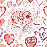 Seamless Heart Background Stock Images