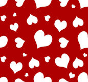 Seamless Heart Background. Seamless heart on red background - Great for Valentine's day project. This image will tile(@ max size stock illustration