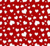 Seamless Heart Background. Seamless heart on red background - Great for Valentine's day project. This image will tile(@ max size royalty free illustration