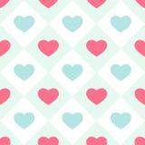 Seamless heart background 2 Stock Photo