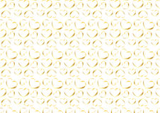 Seamless heart background in gold. A seamless background composition of hearts in gold color Royalty Free Stock Images