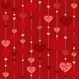 Seamless heart  background - Illustration Royalty Free Stock Photo