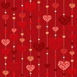 Seamless heart  background - Illustration. Vektor Royalty Free Stock Photo