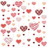 Seamless heart  background - Illustration. Vektor Royalty Free Stock Photography