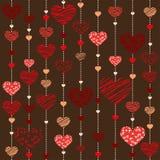Seamless heart  background - Illustration. Vektor Stock Image