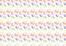 Seamless heart background in marzipan colors. A background composition of hearts in marzipan colors Royalty Free Stock Photos
